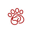 cat and dog logo design template vector image vector image