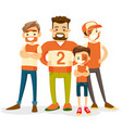 caucasian white sport fans supporting their team vector image vector image
