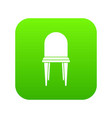 chair icon digital green vector image vector image