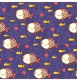 Childish marine seamless pattern vector image