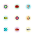 Choice icons set pop-art style vector image vector image