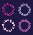 circular floral decorations frames vector image