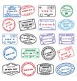 Clean passport stamp