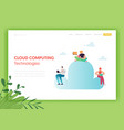 cloud data storage technologies landing page vector image vector image
