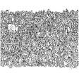 crowd happy people cheering on stadium vector image vector image