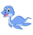 Cute dinosaur cartoon swimming vector image