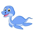 Cute dinosaur cartoon swimming vector image vector image