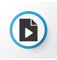 data icon symbol premium quality isolated video vector image vector image
