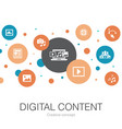 digital content trendy circle template with simple vector image