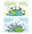 ecology flyer clean energy and factories banner vector image vector image