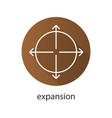 expansion flat linear long shadow icon vector image vector image