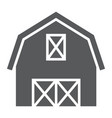 farm barn glyph icon farming and agriculture vector image vector image
