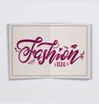 Fashion blog handmade lettering for social vector image