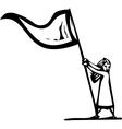 Flag Girl vector image vector image