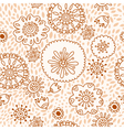 Floral pattern seamless background with flowers vector image