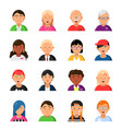 funny characters male and female web avatars vector image vector image