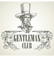 Gentlemens club Vintage vector image