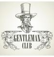 Gentlemens club Vintage vector image vector image