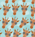 Giraffe Seamless pattern with funny cute animal vector image vector image