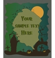 Halloween poster with grim reaper and pumpkins vector image
