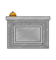 hotel reception isolated icon vector image