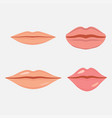 human mouth icon vector image vector image