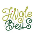 jingle bells - christmas greeting and doodle stars vector image vector image