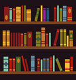 library book shelves book box vector image vector image
