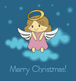 merry christmas angel vector image