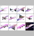 minimal brochure templates with colorful triangles vector image vector image