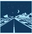 night highway vector image vector image