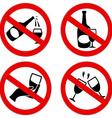 no alcohol symbol vector image