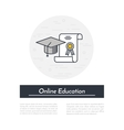 Online Education Icon vector image vector image