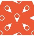 Orange map marker pattern vector image vector image