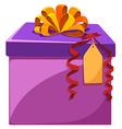 Present box with orange ribbon vector image