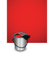 red paint pot background vector image vector image