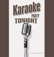 retro vintage microphone karaoke background 2 vector image vector image