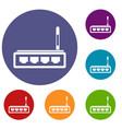 router icons set vector image vector image
