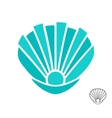 sea shell logo or icon vector image vector image