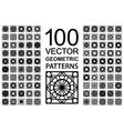 set geometric patterns vector image vector image