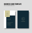 simple and minimalist business card vertical vector image vector image