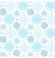 snowflakes seamless pattern winter background vector image
