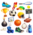 Sport Inventory Decorative Icons Set vector image