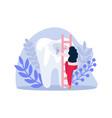 unhealthy tooth icon vector image vector image