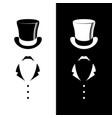 vintage gentleman club logo vector image vector image