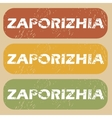 Vintage Zaporizhia stamp set vector image vector image