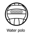 water polo icon simple black style vector image vector image