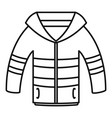 winter jacket icon outline style vector image