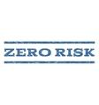 Zero Risk Watermark Stamp vector image