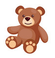 flat teddy bear baby toy vector image